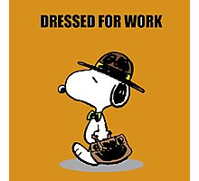 dressed for work snoopy Photographic Print