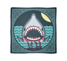 Dark night at the sea - wild shark appear Scarf