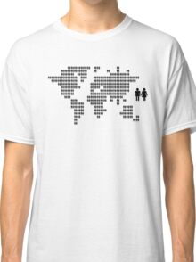 World map made from people icons Classic T-Shirt