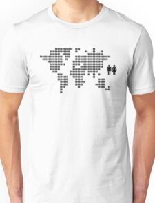 World map made from people icons Unisex T-Shirt