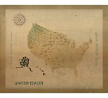 united states map Photographic Print