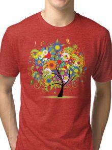 Floral tree summer Tri-blend T-Shirt