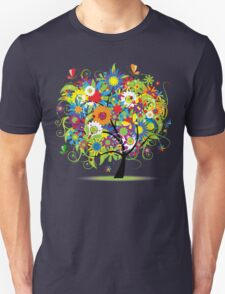 Floral tree summer Unisex T-Shirt
