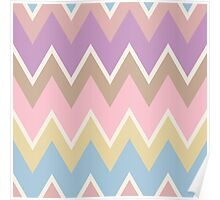 Pastel Triangle Pattern Poster