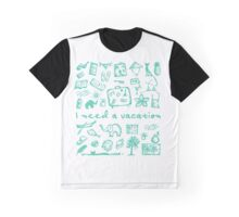 Summer vacations seamless pattern Graphic T-Shirt