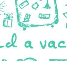 Summer vacations seamless pattern Sticker