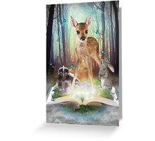 Believe In Magic • (Forest Friends: Bambi / Thumper / Flower) Greeting Card