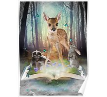 Believe In Magic • (Forest Friends: Bambi / Thumper / Flower) Poster