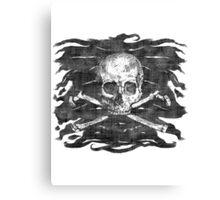 Old Skull Crossbones Pirate Flag Canvas Print