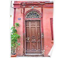 DOOR AT CORFU OLD TOWN Poster
