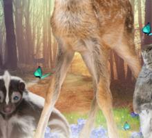 Believe In Magic • (Forest Friends: Bambi / Thumper / Flower) Sticker