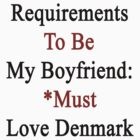 Requirements To Be My Boyfriend: *Must Love Denmark  by supernova23