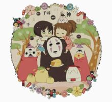 collage ghibli familly fun One Piece - Long Sleeve