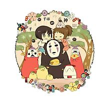 collage ghibli familly fun Photographic Print