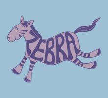 Leaping zebra t shirt (purple) Kids Clothes