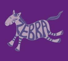 Leaping zebra t shirt (purple) by Leebling