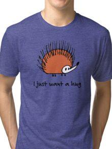 Funny orange hedgehog Tri-blend T-Shirt
