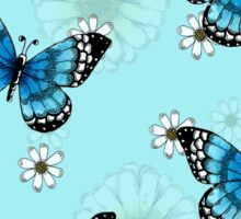 Blue Butterfly Pattern Sticker