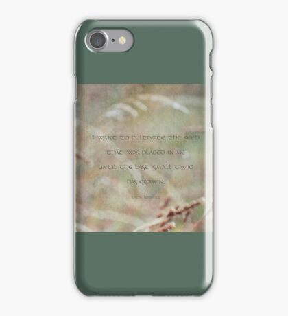 cultivate seed-inspirational iPhone Case/Skin