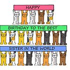 Happy Birthday Best Sister in the World by KateTaylor