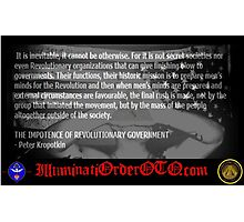 Illuminati New World Order Anarchist Quote Photographic Print