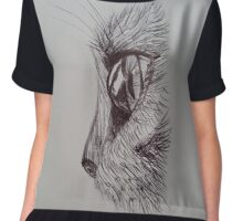 The Cat and It's Spherical Eye  Chiffon Top
