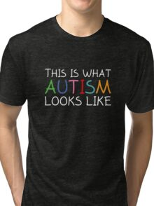 This Is What Autism Looks Like Tri-blend T-Shirt