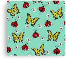 Swallowtails and Ladybugs Canvas Print