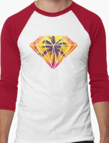 Summer Sunset Coconut Beach Diamond Men's Baseball ¾ T-Shirt