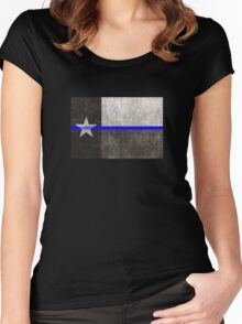 Texas Thin Blue Line Women's Fitted Scoop T-Shirt