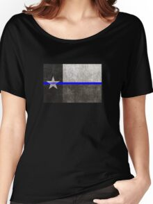 Texas Thin Blue Line Women's Relaxed Fit T-Shirt