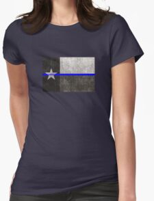 Texas Thin Blue Line Womens Fitted T-Shirt