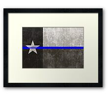 Texas Thin Blue Line Framed Print