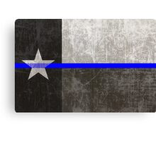 Texas Thin Blue Line Canvas Print