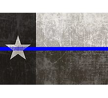 Texas Thin Blue Line Photographic Print