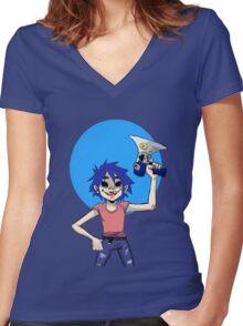 2D-Gorillaz Women's Fitted V-Neck T-Shirt