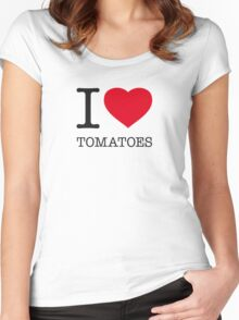 I ♥ TOMATOES Women's Fitted Scoop T-Shirt