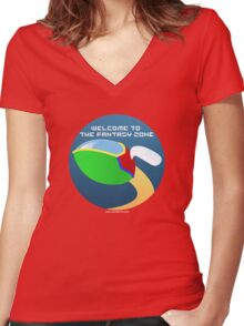Opa Opa - Welcome to the Fantasy Zone Women's Fitted V-Neck T-Shirt