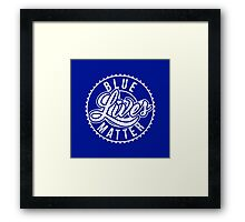 Blue Lives Matter - All Lives Matter - Police Officers Framed Print