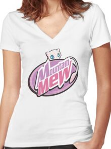 Mountain Mew Women's Fitted V-Neck T-Shirt