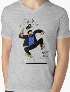 haddock Mens V-Neck T-Shirt