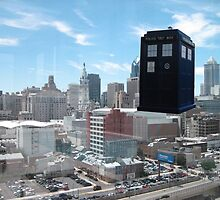 TARDIS over Philly by bplavin