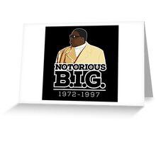 RIP Biggie Smalls Greeting Card