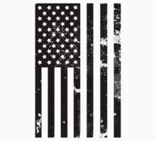 American Flag - Grunge Destroyed by phrixxxus