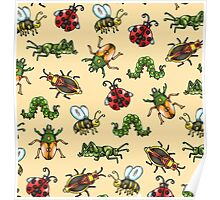 Insect Pattern Poster