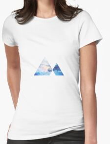 Triangle Mountain Geometric Womens Fitted T-Shirt