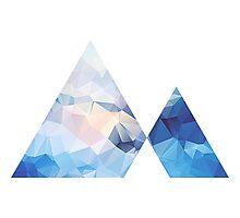 Triangle Mountain Geometric Photographic Print