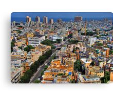 Tel Aviv Eagle Eye City View Canvas Print