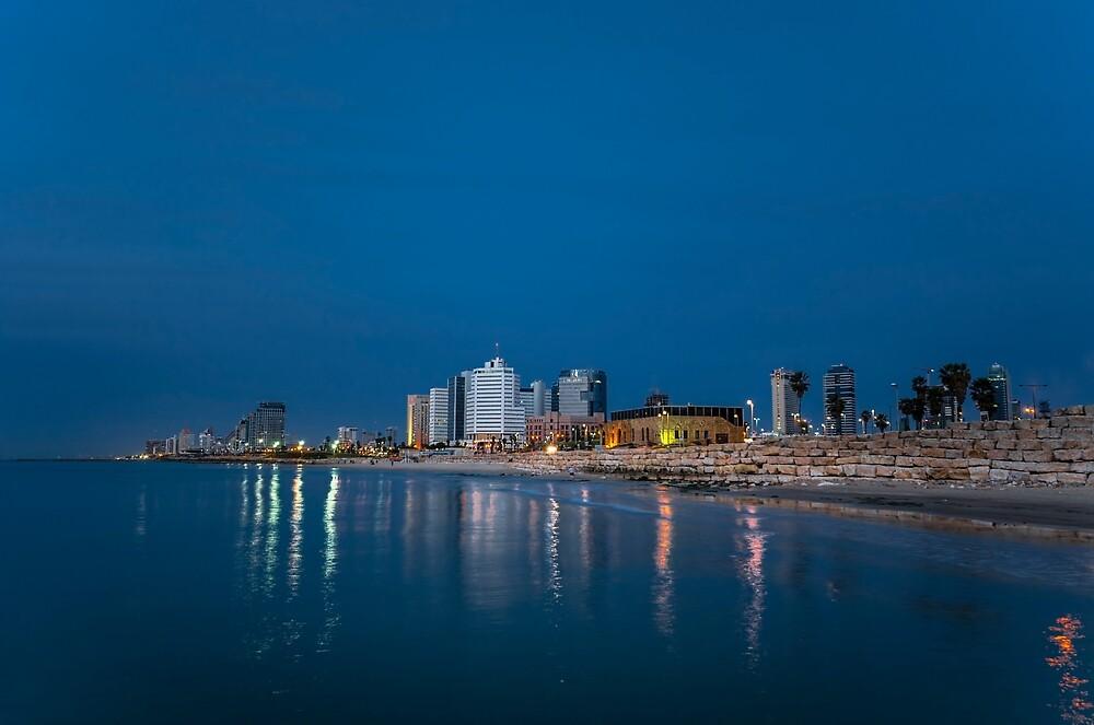 Tel Aviv the blue hour by Ronsho