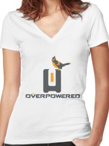 OverPowered Bastion and Ganymede Women's Fitted V-Neck T-Shirt